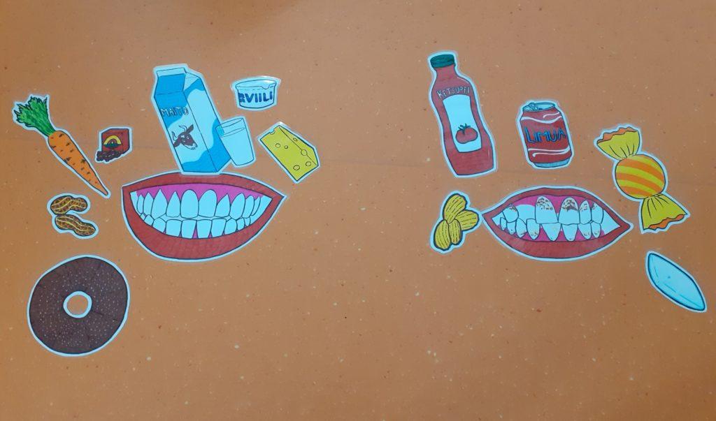 Terveelliset hampaat ja terveellinen ravinto