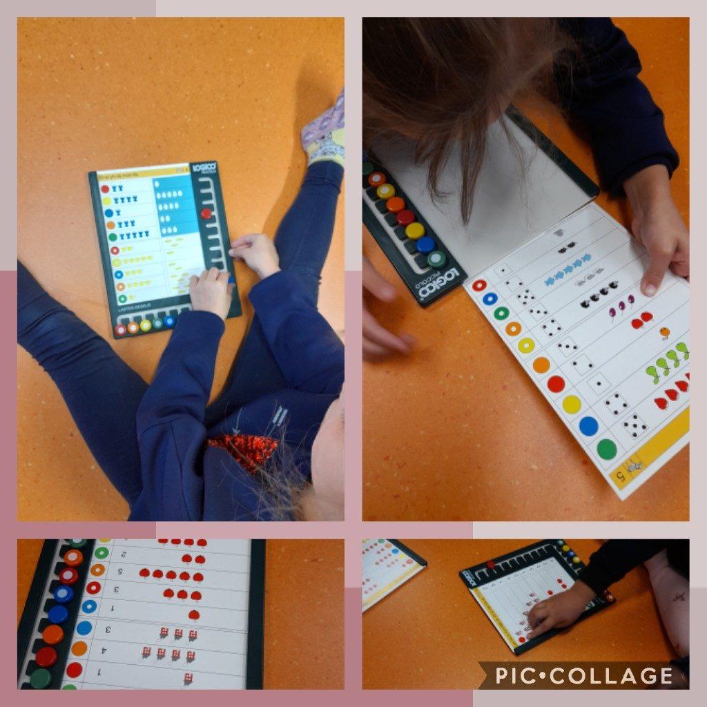 Lapset pelaavat matematiikkapelejä