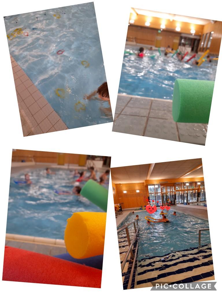Kailas-talon eskarit ovat uimaopetuksessa uimahallissa