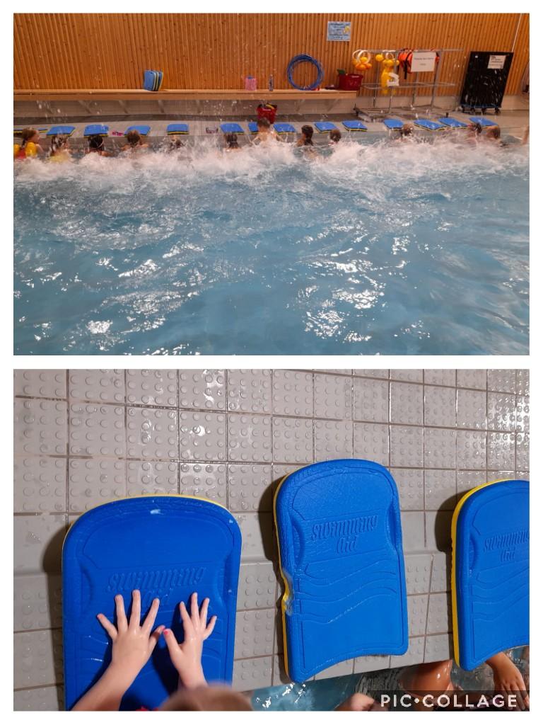 Kailas-talon eskarit roiskuttavat vettä uimahallissa