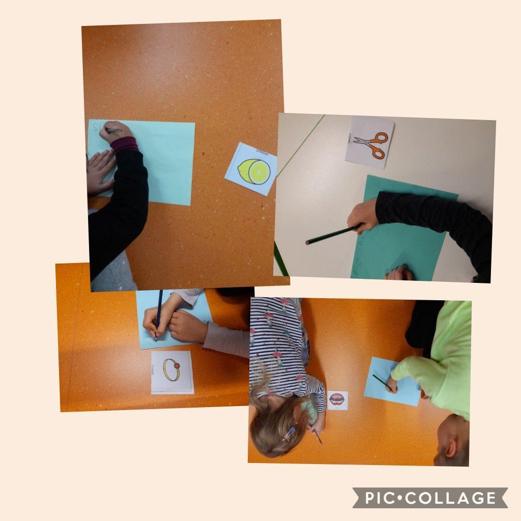 Lapset piirtävät ja kirjoittavat s-kirjaimella alkavia sanoja