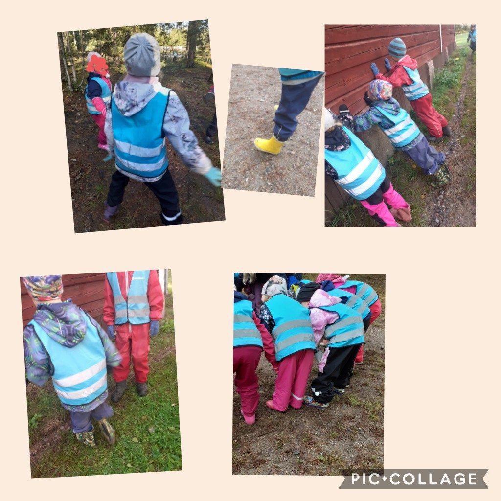 Lapset tekevät jumppaliikkeitä