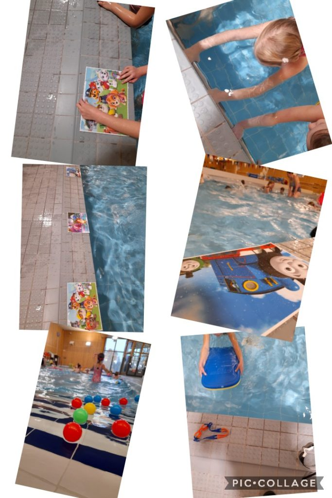 Kuvassa lapset uimahallissa